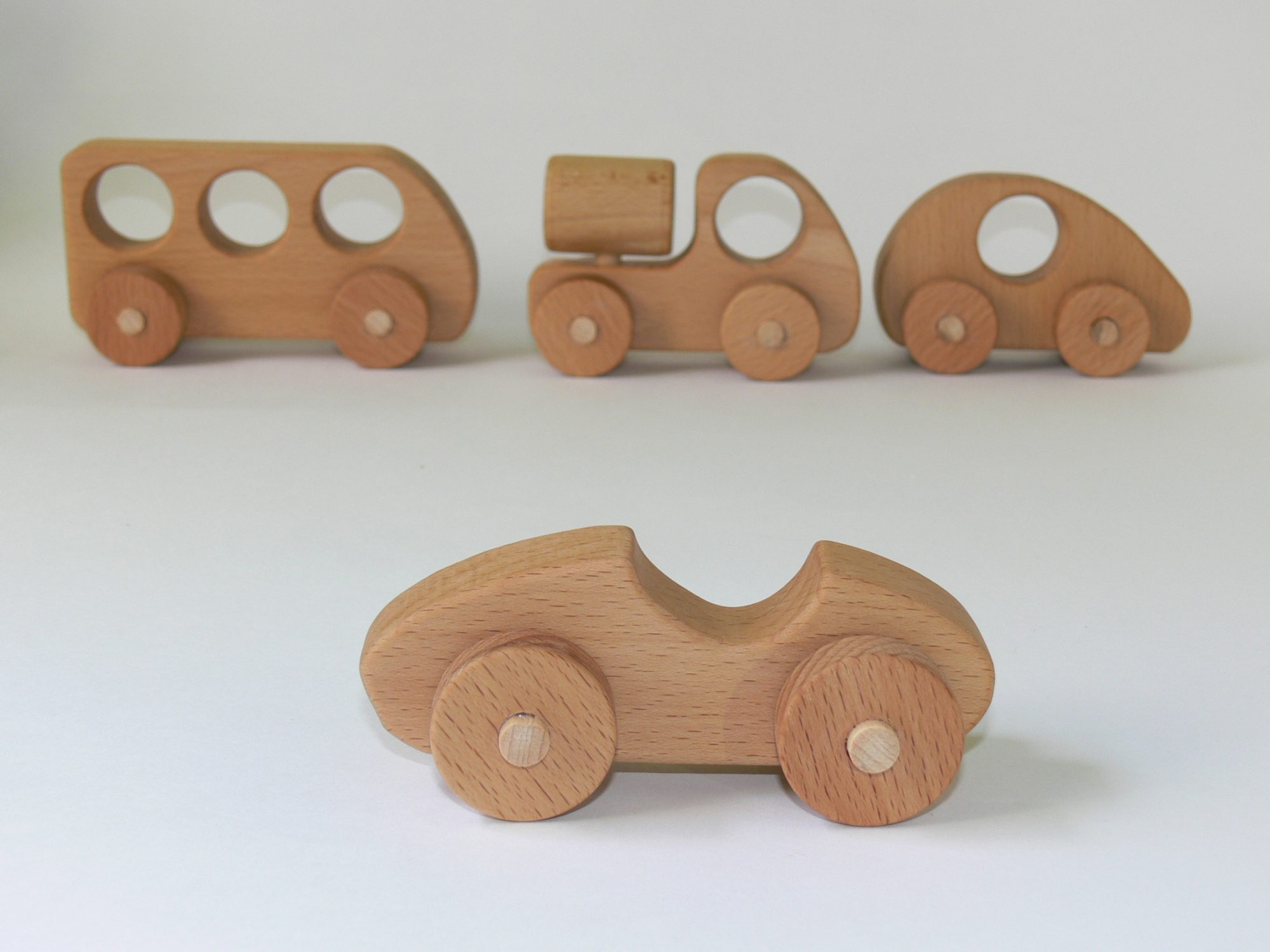 Push Racing Car Wooden Toy